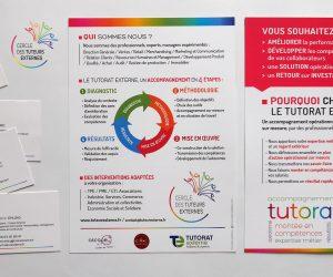 Refonte de logo, création de flyer, cartes de visite, ppt pour les Tuteurs Externes