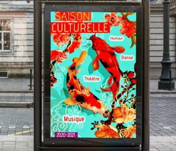 Saison culturelle, affiche abribus